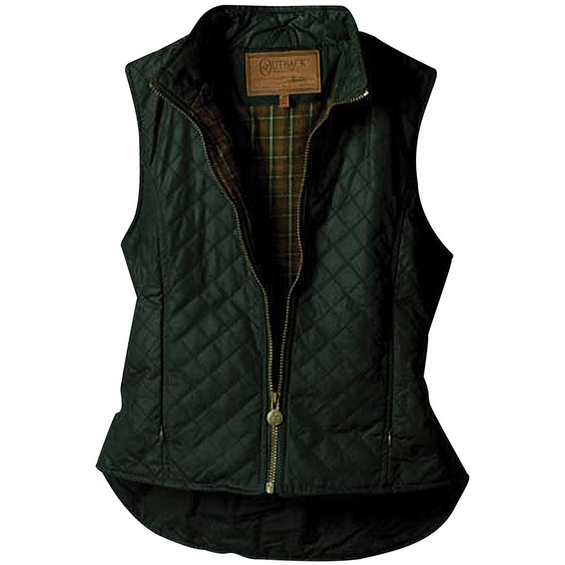 Women's Outback Trading Company® Quilted Oilskin Vest, Olive Green ... : quilted riding vest - Adamdwight.com