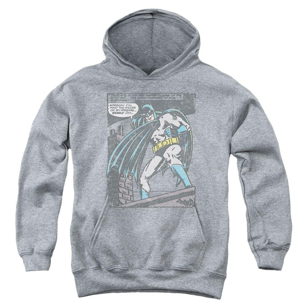 Batman Bat Origins Heather Youth Hooded Sweatshirt