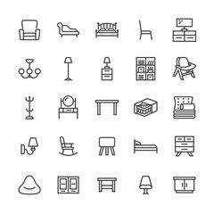 Furniture Icons Stock Photos Royalty Free Images Vectors Video Living Room Tv Stand Living Room Tv Chair Sofa Bed