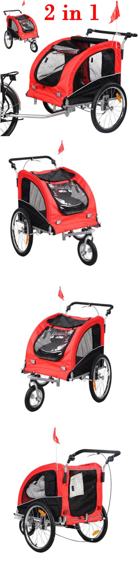 Bike baskets and trailers bike trailer dog bicycle pet