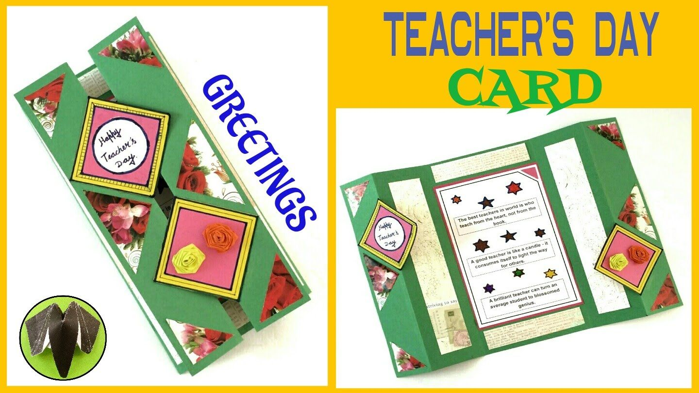 Tutorial To Make Teacher S Day Card Greeting Card Easy
