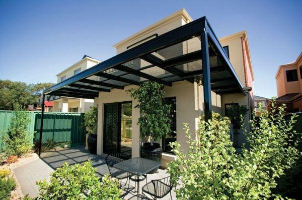 metall terrassenüberdachung gartenmöbel Beschattung Pinterest - auswahl materialien terrassenuberdachung