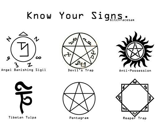Know Your Supernatural Symbols I Really Want The Anti Possession