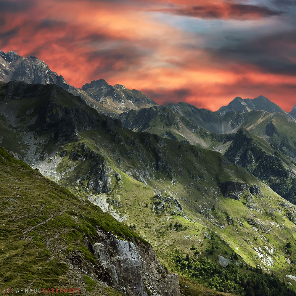 Pyrenees on fire by Arnaud Cassagnet on 500px