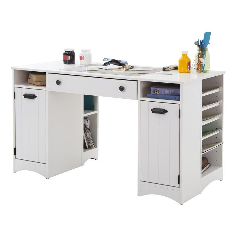 White Craft Table With Storage Artwork Rc Willey Furniture Store Craft Tables With Storage Craft Table Desk Shelves