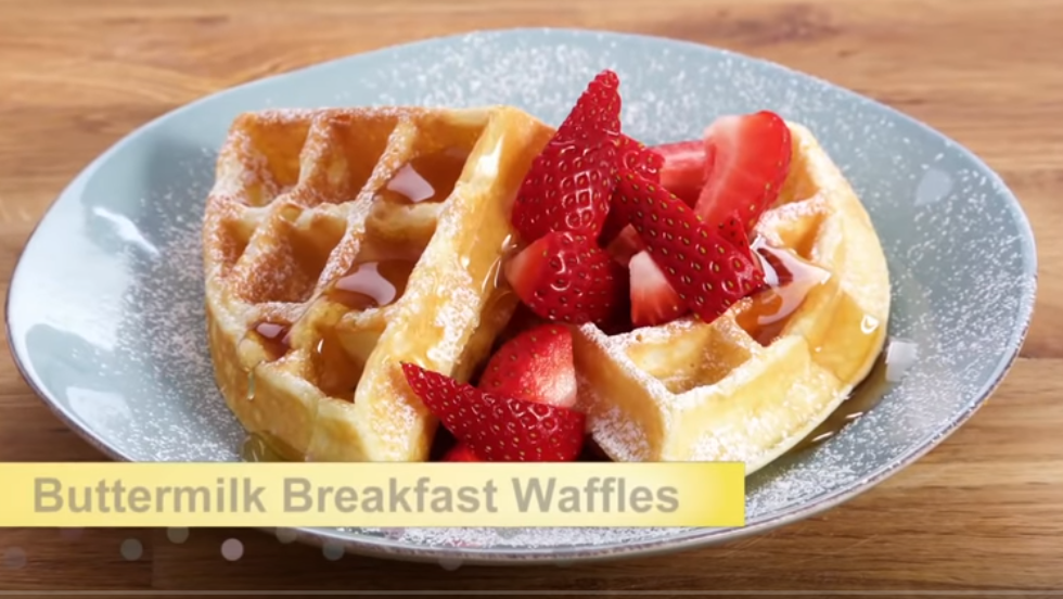 Pin By Lilly Recipe On Buttermilk Waffles For Breakfast Buttermilk Waffles Best Waffle Recipe Waffle Recipes