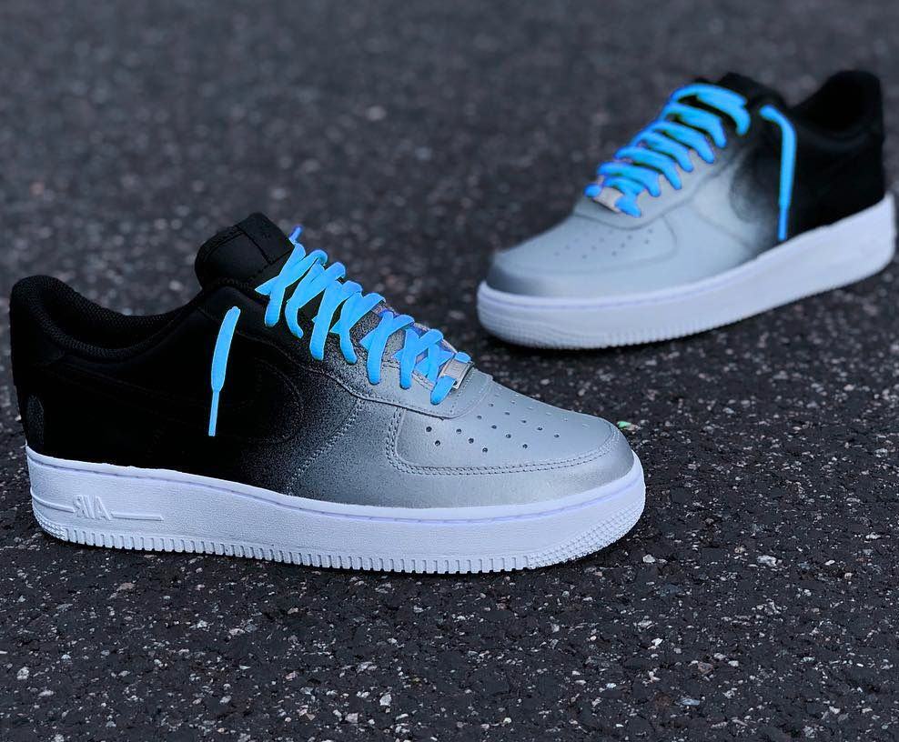Nike Air Force 1 Grey Black Custom Sneaker Nike Air Shoes