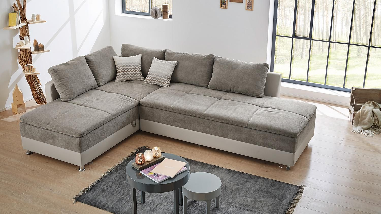 Wohnlandschaft Links Modena Sofa Bett In Greige Mit Nako Modern Couch Couch Sofa Couch