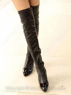Black Velvet Women's Flat Heel With Zipper Shoes -$42.89