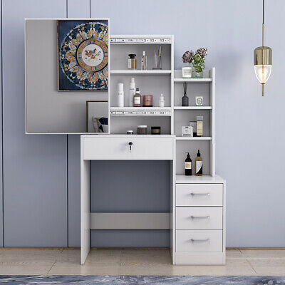 White Dressing Vanity Table Makeup Dresser With Large Sliding Mirror 3 Drawers 99 99 Picclick Uk Bedroom Vanity Set Makeup Dresser Room Design Bedroom