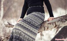 черно-белый вариант) жаккардовая юбка.