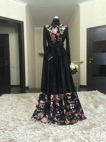 Pin By Veysel Ehmedli On Model Gamis Dan Abaya Abayas Fashion Hijab Fashion Muslim Dress