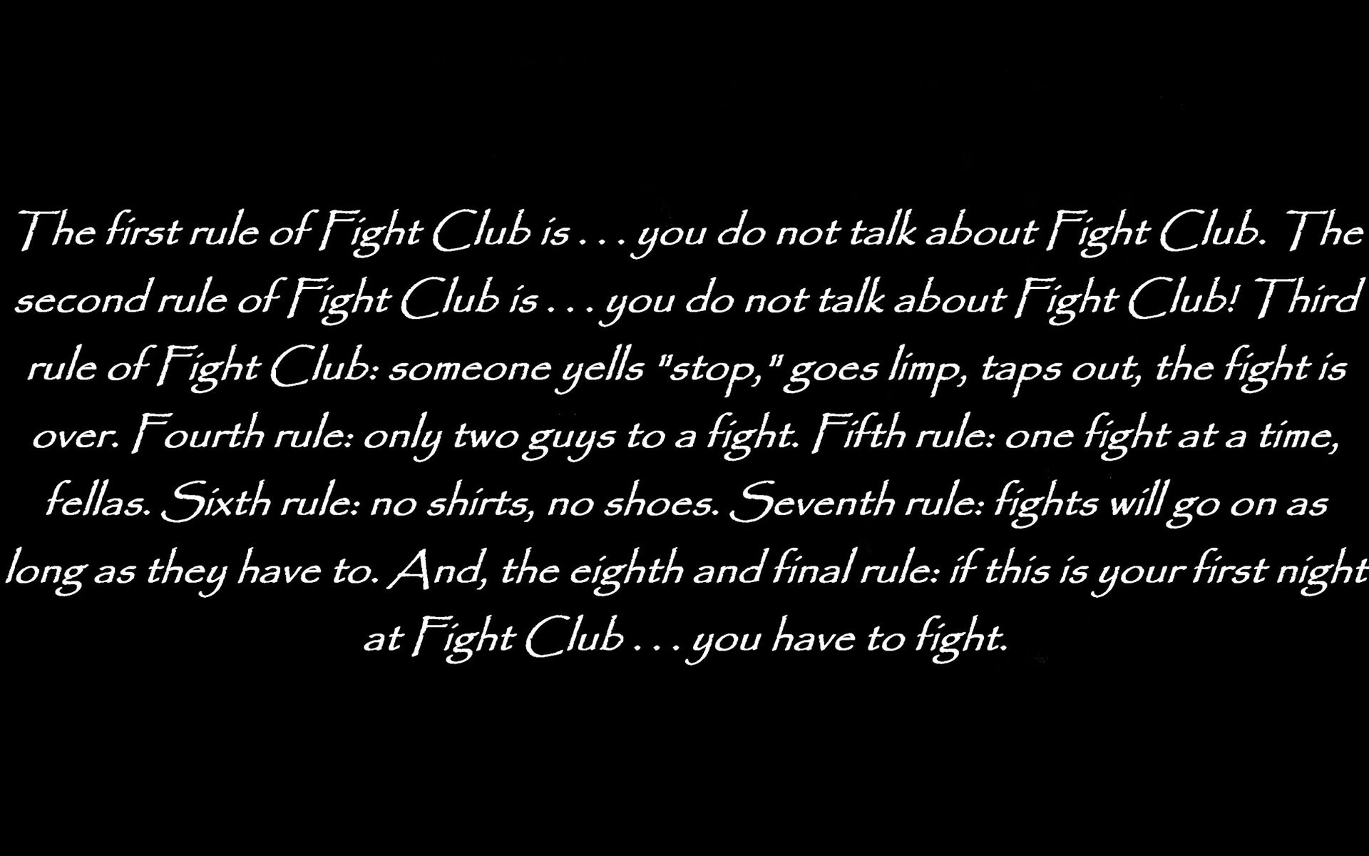 Fight Club Quote Wallpaper 18924