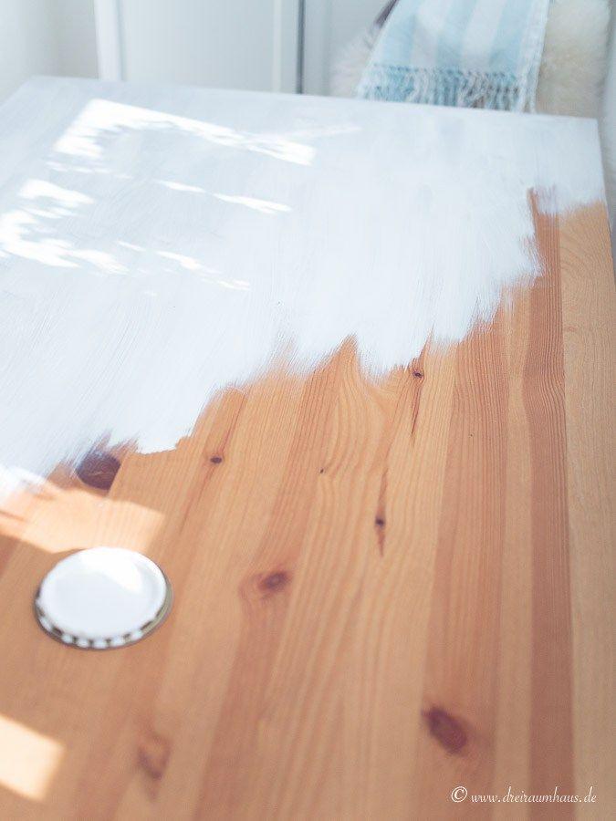 tisch streichen ohne schleifen ein diy mit farrow ball ikea landhausk che countrykitchen. Black Bedroom Furniture Sets. Home Design Ideas