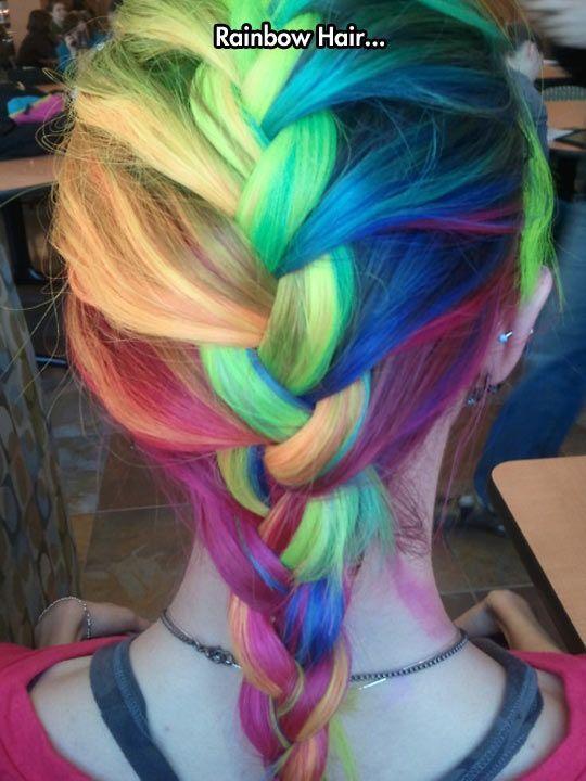 Rainbow Hair moment love