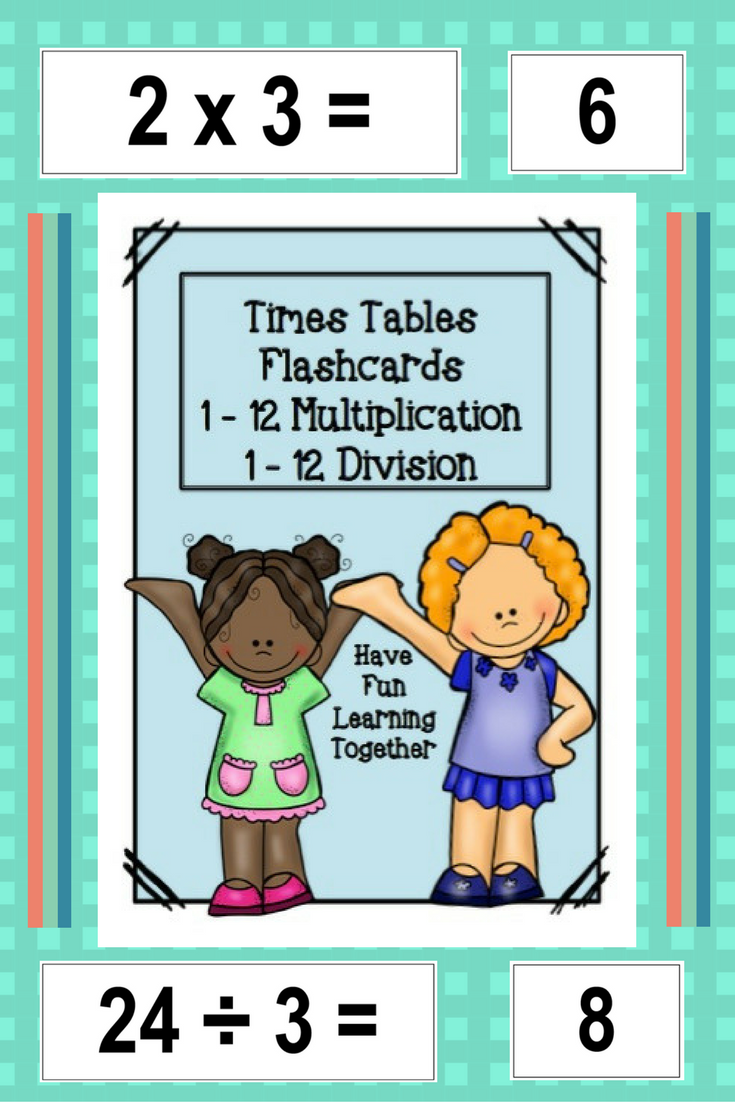 Times Tables Flashcards Multiplication and Division | Times tables ...