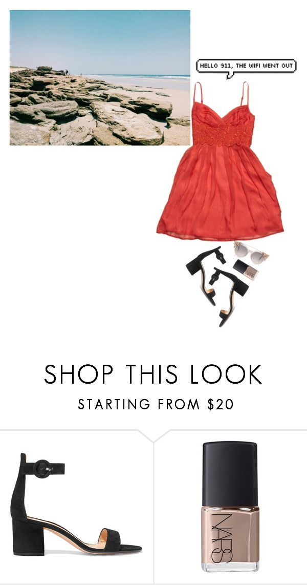 """LOVING SOMEONE"" by camiiiii ❤ liked on Polyvore featuring Jessica Simpson, Gianvito Rossi and NARS Cosmetics"