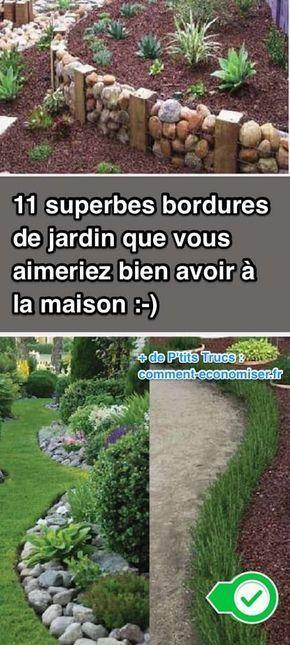 11 Superbes Bordures De Jardin Que Vous Aimeriez Bien Avoir A La Maison Bordure Jardin Jardins Jardin Facile