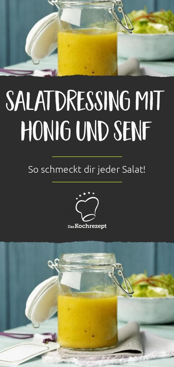 Photo of Salad dressing with honey and mustard