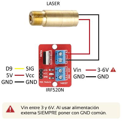 Arduino Laser Esquema Mosfet Diodo Planos De Router Cnc Electricidad Y Electronica