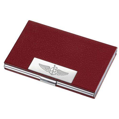 Breitling Red Leather Business Cards Holder Leather Business Card Case Leather Business Cards Business Card Case