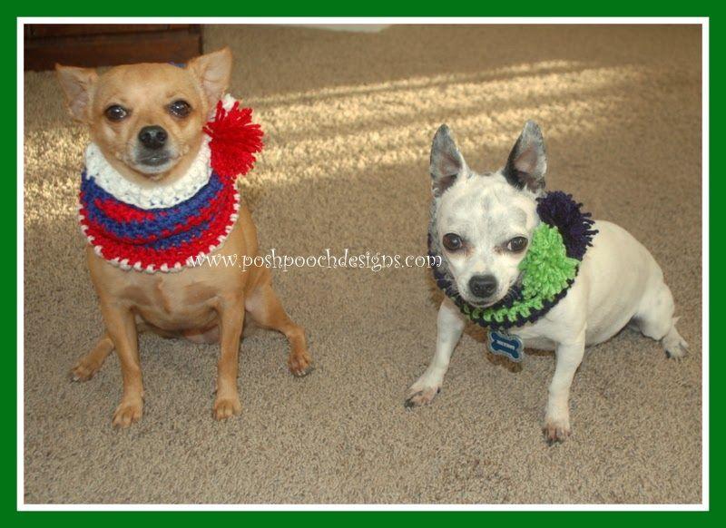 Posh Pooch Designs Dog Clothes: Sports Team Dog Snood Free Crochet ...