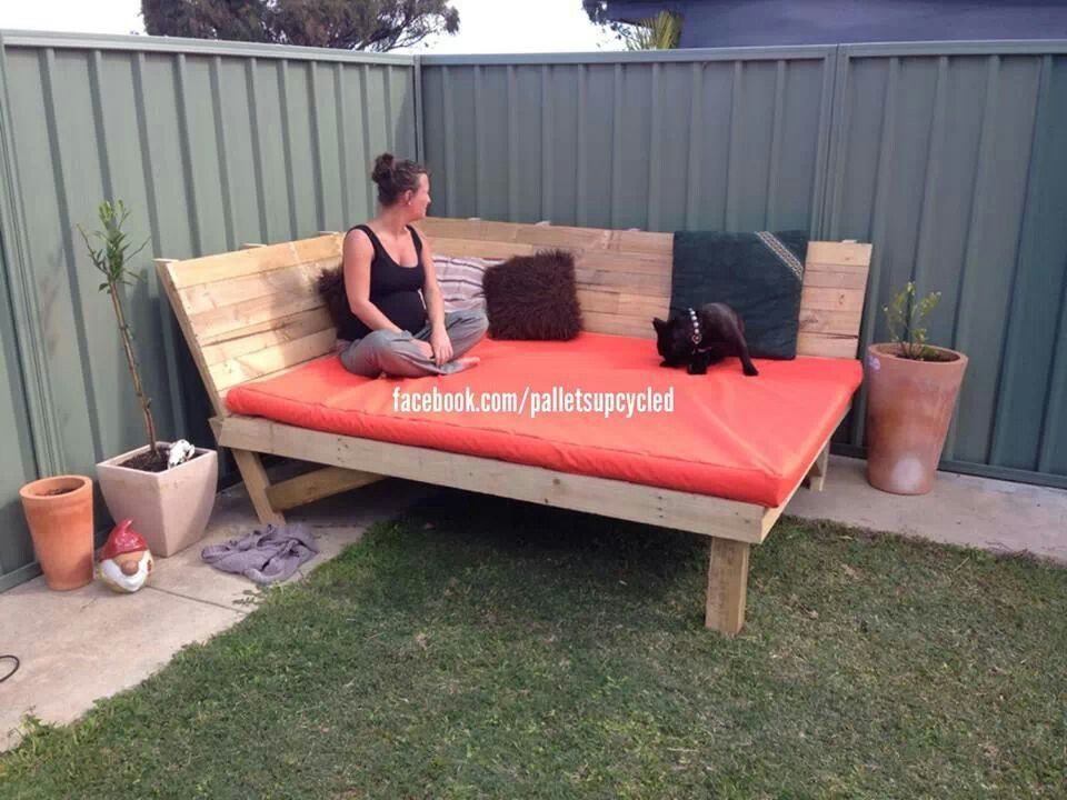 Outside Bed outside pallet bed visit,like and shop our facebook page https
