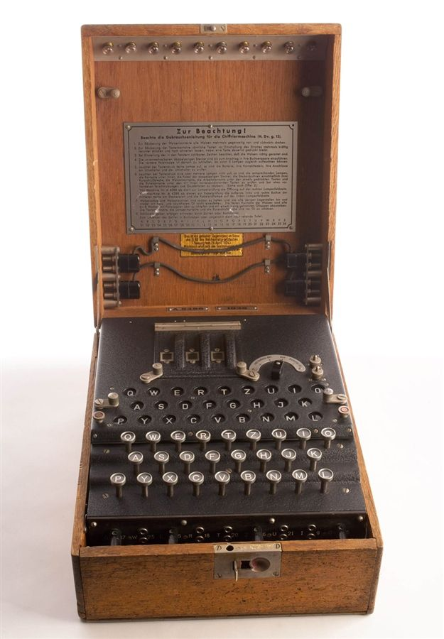The World War Two Enigma Machine Used By German Military