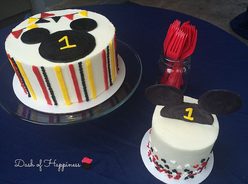 Pleasing Dash Of Happiness Cakes Buttercream Mickey Mouse Cakes For A Funny Birthday Cards Online Chimdamsfinfo
