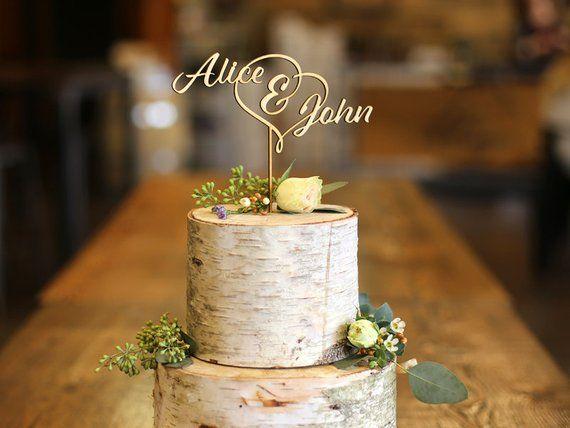 First Names Wood Cake Topper Wedding Cake Topper Etsy In 2020 Wood Cake Topper Wedding Wood Wedding Cakes Wedding Cake Topper Etsy