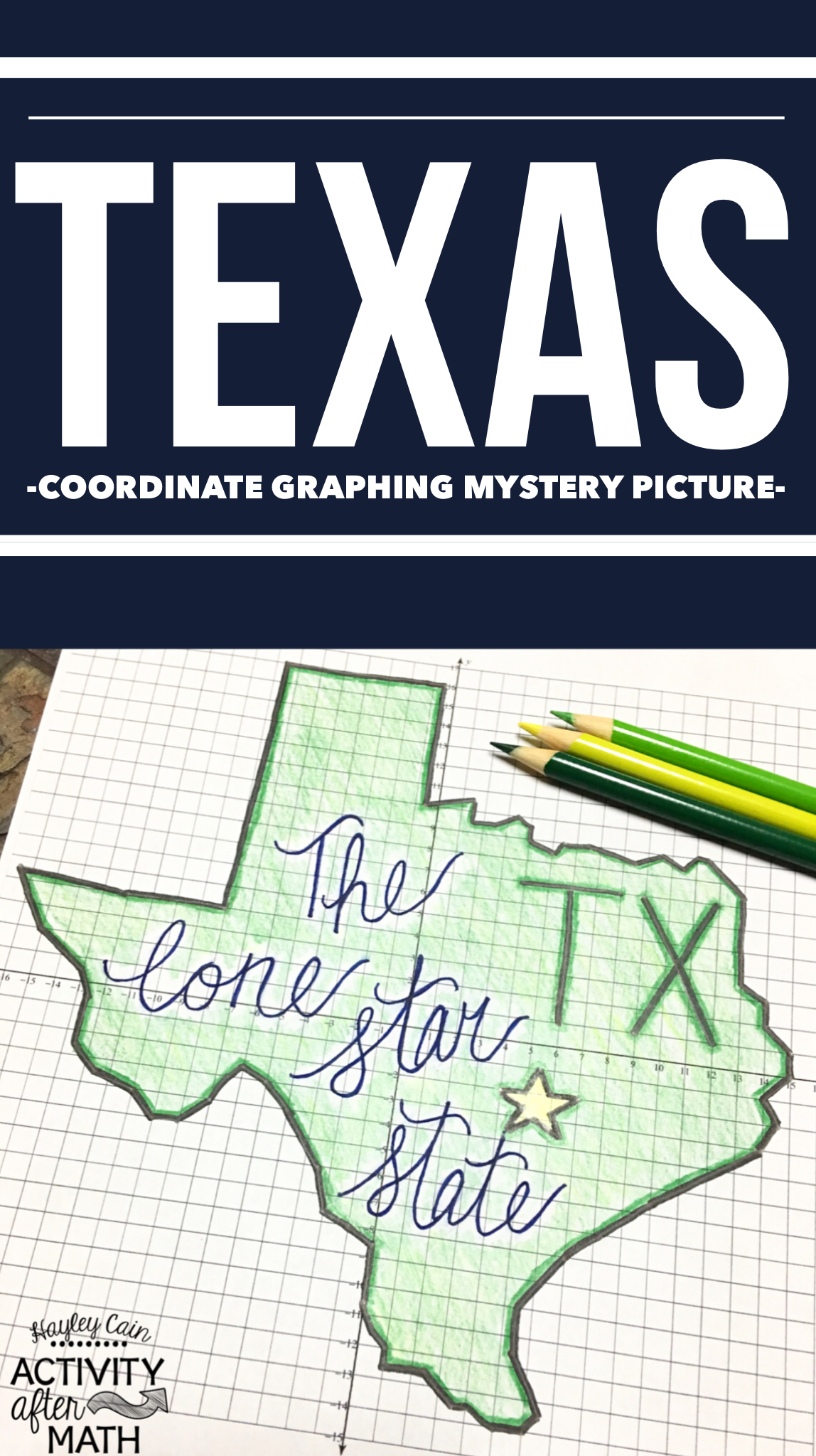 Texas Coordinate Graphing Picture First Quadrant Amp All