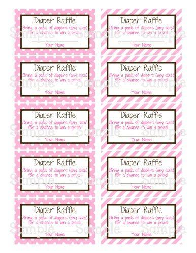 printable m2m pink elephant baby shower diaper raffle tickets