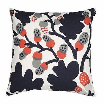 Marimekko P Hkin Puu Orange Grey Throw Pillow Grey Throw