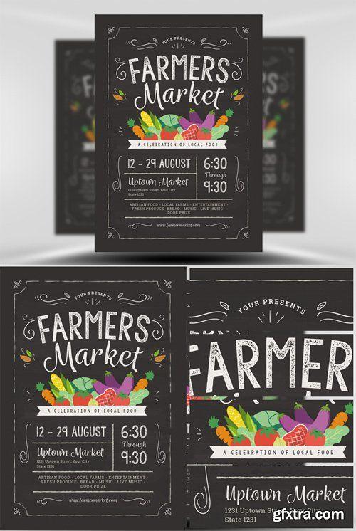 Farmers Market Flyer Template Gfxtra Pinterest Adobe Photoshop