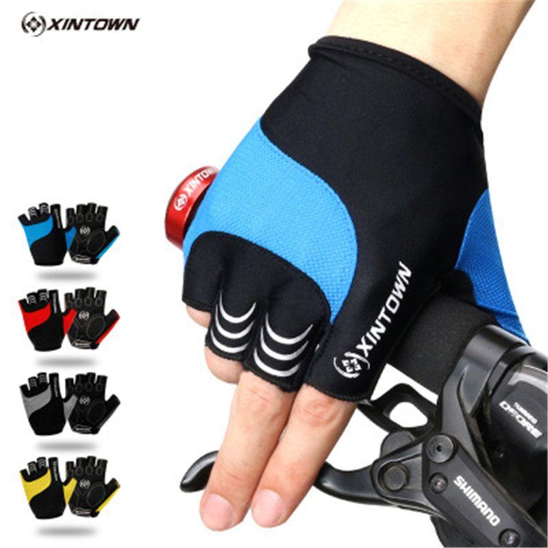 Cycling Gloves Half Finger Gel Pad Summer Breathable Mtb Bike Bicycle Men Women