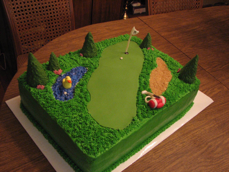 decorated cakes Golf Birthday Cake Cake Decorating Community