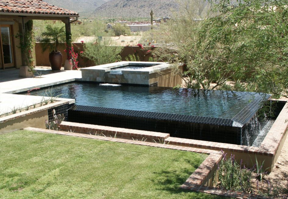 Stunning Swimming Pool Tile Phoenix Az With Black Glazed Ceramic Tile For Swimming  Pool Tiles Ideas