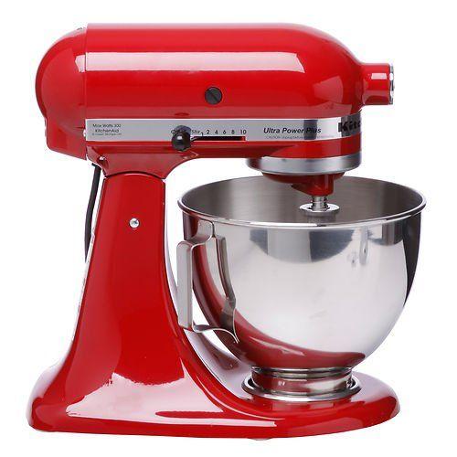 Red Kitchenaid Mixer Robot De Cuisine Rouge Kitchenaid Artisan Kitchen Aid Kitchen Aid Mixer