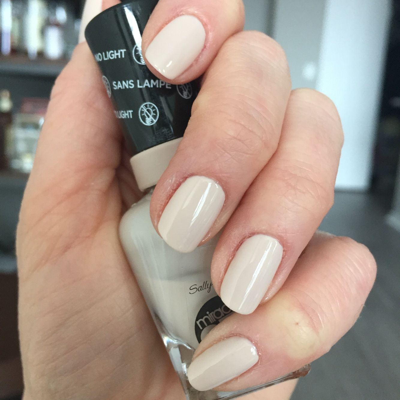 Nude nails. Sally Hansen Miracle Gel (no light) in Birthday Suit ...