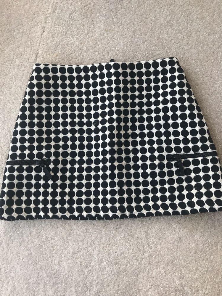 f17022e9df Topshop Mini Skirt Petite 6 Black White Spot Print #fashion #clothing  #shoes #