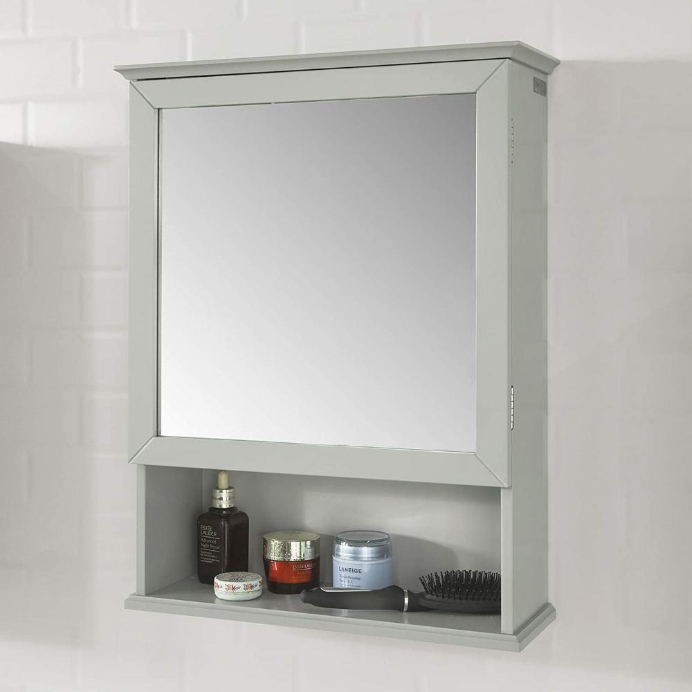 Sobuy Bzr10 Hg Spiegelschrank Wandschrank Hangeschrank Mit Spiegeltur Badschrank Badmobel Hellgrau In 2020 Badezimmer Spiegelschrank Kuchenschrank Hangeschrank