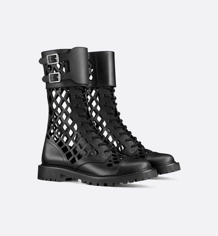 Photo of Black D-Trap Matte Calfskin Low Boot – Shoes – Women's Fashion | DIOR