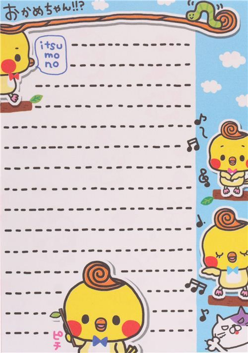 funny chicks tree shape Note Pad by Q-Lia with cut out pages  4