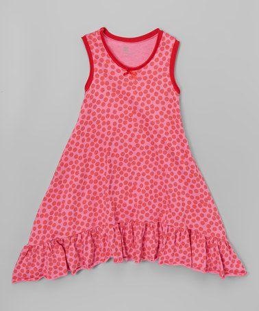 Fuchsia Polka Dot Swing Dress - Infant, Toddler & Girls