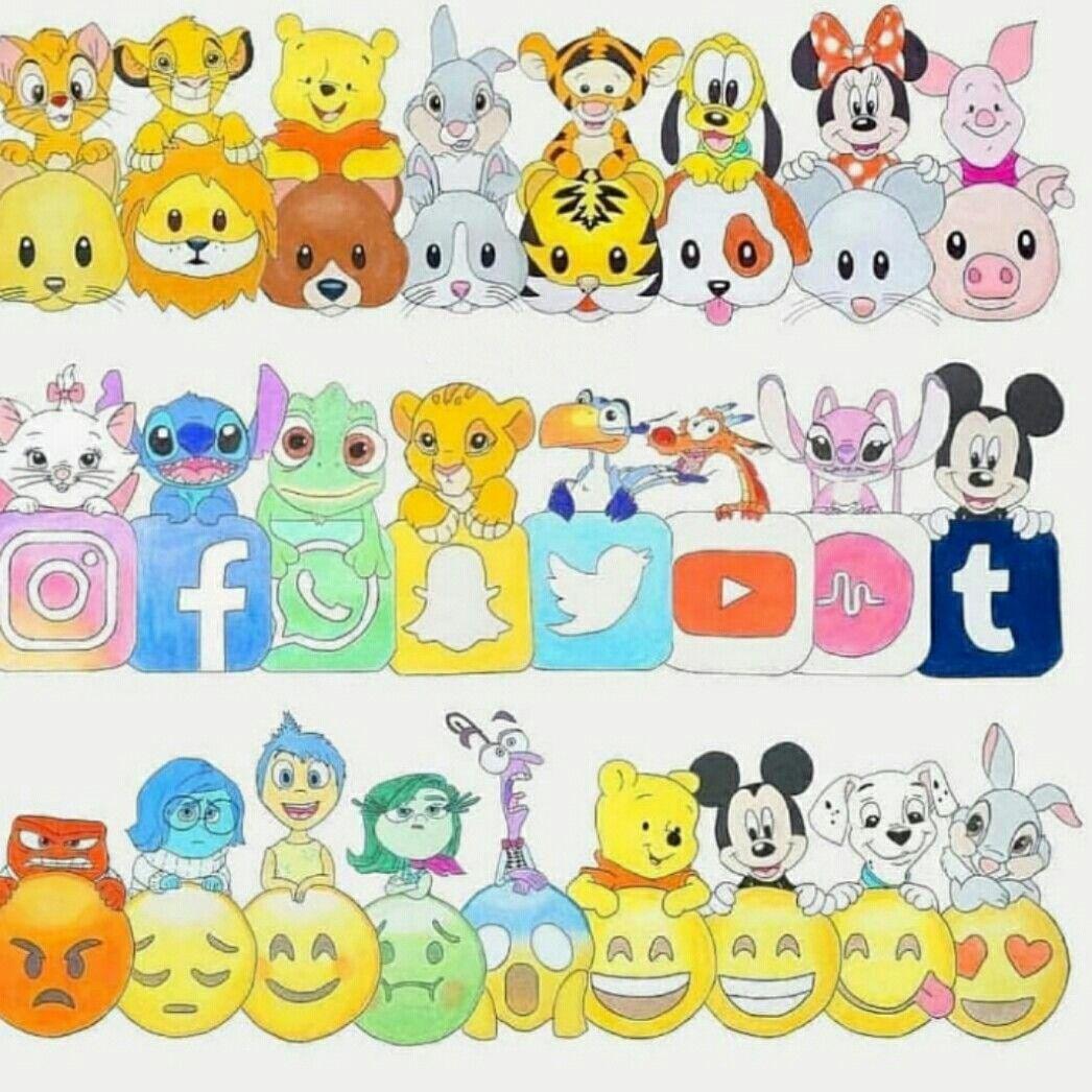 Emoji Disney  Dessin kawaii, Dessin kawaii logo, Dessin emoji
