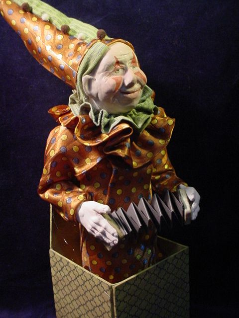 """""""Clowning Around""""  another jack in the box, soon to go on eBay (Dec.2014).  Happy Fellow. (decamp)"""