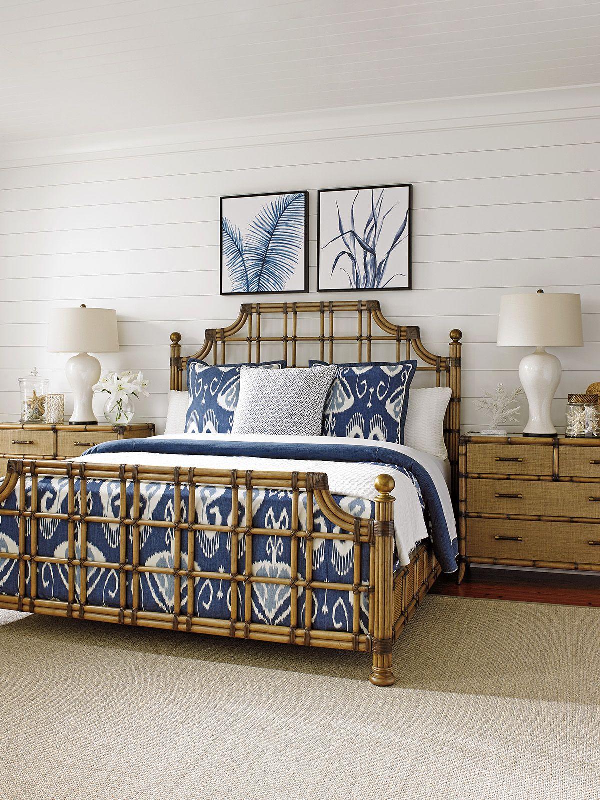 Blue and White Bedroom BeachHouse TommyBahamaHome