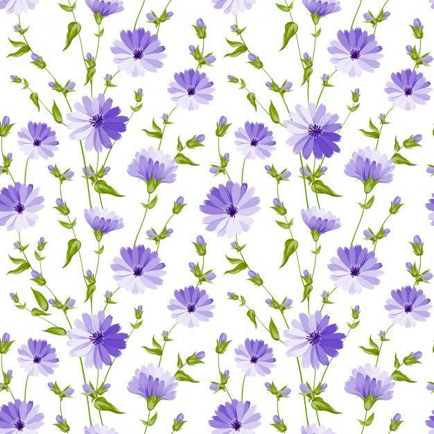Purple Flowers Pattern Background Purple Flower Background Purple Flowers Wallpaper Flower Backgrounds