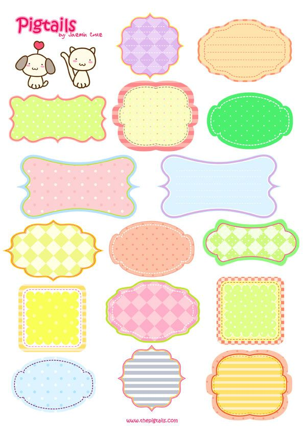 free printable tags (could be labels too). Would be great to label kid stuff.