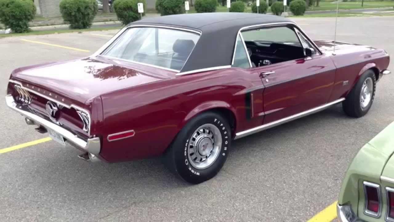 1968 Ford Mustang Gt 1968 Ford Bullitt Mustang Gt 390 Fastback